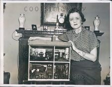 1935 NY Socialite With Doll House She Made With Needlepoint Press Photo