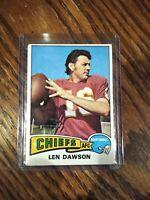 1975 Topps # 120 Len Dawson QB Kansas City Chiefs