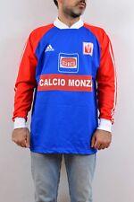 ADIDAS CALCIO Monza Vintage 90s Training T Shirt Italian Football Red/Blue L VGC
