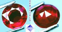 SI - 1.67ct !!! RUBIS de MADAGASCAR !!! brillant 6,8mm rouge rosé - poli AAA++