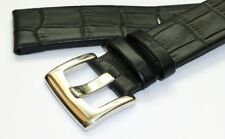 22mm BLACK Leather Band Strap 316L Heavy-Duty Buckle for MONTBLANC Timewalker