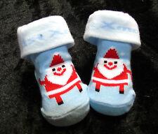 Socken Strümpfe Erstlingssocken Weihnachten Schneemann Schneeflocke 0- 6 mon -A