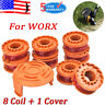 10ft Line String Trimmer Spool+Cap Cover For WORX WA0010 WG151 WG160 WG165 WG180