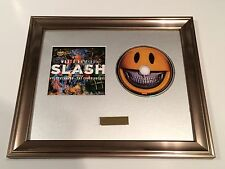 SIGNED/AUTOGRAPHED SLASH - WORLD ON FIRE CD FRAMED PRESENTATION. GUNS N ROSES