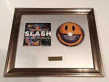 SIGNED/AUTOGRAPHED SLASH - WORLD ON FIRE CD FRAMED PRESENTATION. GUNS N ROSES