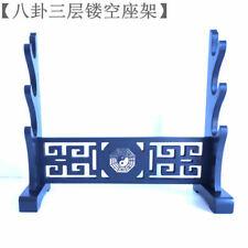 3-Tier Pannel wood Sword Holder Samurai Stand Display rack Katana Flute