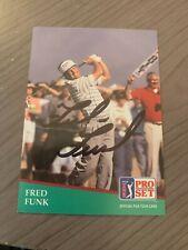 FRED FUNK AUTOGRAPHED 1991 PRO SET GOLF CARD W/COA
