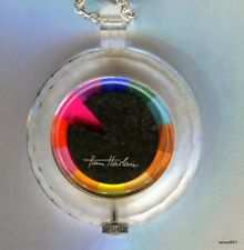 Vintage 1970s Tian Harlan Lucite Chromachron Pendant Windup Watch Works