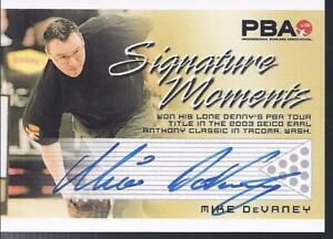 2008 PBA Bowling Autograph Signature Moments Mike Devaney