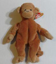 Bongo The Monkey Original Ty Beanie Baby Plush Chimpanzee Stuffed Ape Tagged