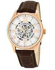 NEW Stuhrling Original Rose Gold/Brown Watch Skeleton Dial 747 Series MRSP $1295