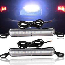 2* Xenon White 12SMD Bolt-On LED License Plate Light Lamp Car (Universal Fit)