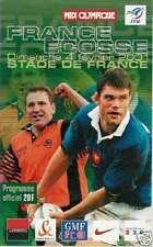 FRANCE v SCOTLAND 2001 RUGBY PROGRAMME - SIX NATIONS MATCH, PARIS