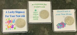 GOOD LUCK SIXPENCES - VARIOUS OPTIONS AVAILABLE