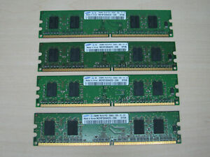 Samsung DDR2 1GB (4 X 256MB) PC2-5300 DDR2-667 M378T3354EZ3-CE6 TEST OK!