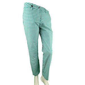Chervo Golf Ladies 7/8 Golfhose Pants Si Sun Block Green Checked 65F Gr.36 New