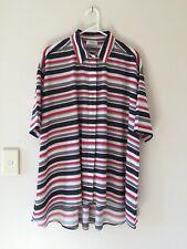 🍃 Mela Purdie French Cotton Oversized Loose Shirt Blous Multi-Colour Size 10 S