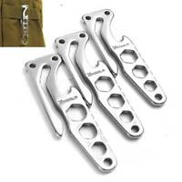 Stainless Steel Outdoor Pocket Multifunction Tool Opener Keychain Key Clip EDC t