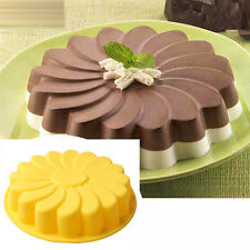 Silicone Cake Mold Round Flower DIY Baking Cake Pan Chocolate Jelly Pizza Mold