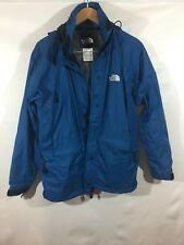The North Face Hyvent Jacket Women's Medium Full Zip Ski Mesh Lined Pockets Blue