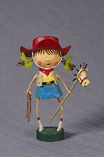 Lori Mitchell™ - Getty Up Lil' Cowgirl - Girl w Red Hat - Pony - Pigtails 11040