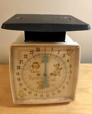 Vintage Sears Nursery Infant Baby Scale 25 Pounds w Baby Cradle Hold & Pad