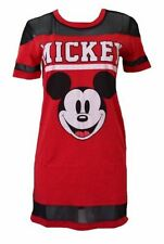 Disney Juniors Mickey Mouse Stripe Black Mesh Tee Shirt Style Dress size Medium