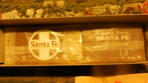 All Nation Vintage Ltd Run O Scale 2 Rail Santa Fe 40' Boxcar Kit, NIB