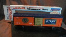 NOS Lionel Sir Walter Raleigh Boxcar 6-7706, 1977, O-027 Gauge,