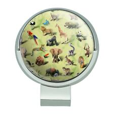 Land Animals Lion Fox Giraffe Pattern Golf Hat Clip With Magnetic Ball Marker