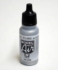 Vallejo Model AIR ALUMINIUM 71.062 Acrylic Hobby Paint 17ml Airbrush Ready 71062