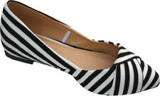 Women's Striped Synthetic Flats