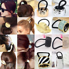 NT Women Leaf Hair Band Rope Metal Hair Cuff Headband Elastic Ponytail Holder