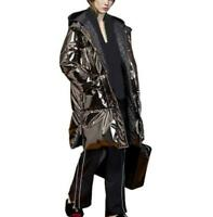 Winter Women's Long Shiny Hooded Duck Down Jacket Overcoat Party Occident Street