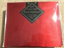 Royal Opulence Luxury Satin Sheet Set. Dark Red. King Sized. New.
