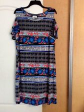 New Wrapper - Multi Color Printed A-Line/Tunic/Dress Women Top Plus Size 1X