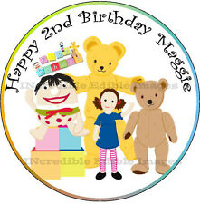 Playschool Personalised Edible ICING Cake Party Decoration Toppers