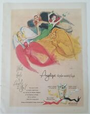 1955 Angelique the perfume wardrobe of angels what kind are you art ad