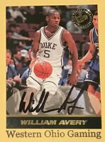 1999 Press Pass William Avery Rookie RC Auto Autographed Card