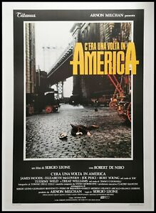 ONCE UPON A TIME IN AMERICA Original Movie Poster 39x55 2Sh Italian LINEN BACKED