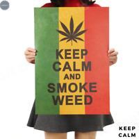 Retro Kraft Paper Poster - Keep Calm and Smoke - for Bar Cafe Room Home Wall