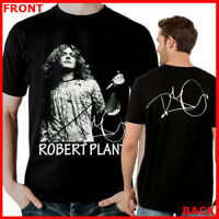 ROBERT PLANT Led Zeppelin Rock Band Music Black T-Shirt TShirt Tee Size S-3XL