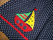 Picture Me Girls Size 24 Month Blue Dotted Sailboat Dress Little Sailor