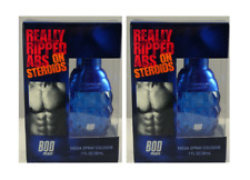 2x BOD Man Really Ripped Abs on Steroids  Mens Cologne Spray .7 oz  (Unboxed)