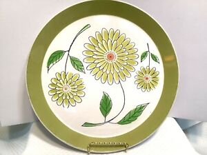 Vintage 1970s Mikasa Duplex by Ben Seibel Dahlia Pattern Oven to Table to Dishwasher Round Platter Chop Plate Japan