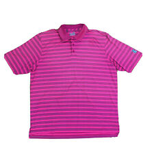 Under Armour Heat Gear Polo Mens Shirt Sz XL Stretch Embroidered Golf Pink