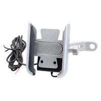 Support Téléphone Moto Universel avec Chargeur USB pour Guidon Moto Scooter