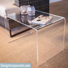 Tavolino salotto design Alzatina Plexiglass Trasparente 60x40x40 ALTO SPESSORE
