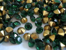 Full package of 288 Preciosa MC Rhinestones in 34ss Green Turmaline/foiled.
