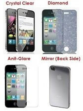 iPhone 4 / 4S Screen Protector (Clear / Anti Glare/ Diamond Front + Mirror Back)